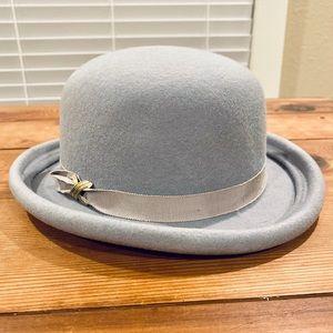 Vintage 100% Wool Doeskin Felt Bollman Bowler Hat